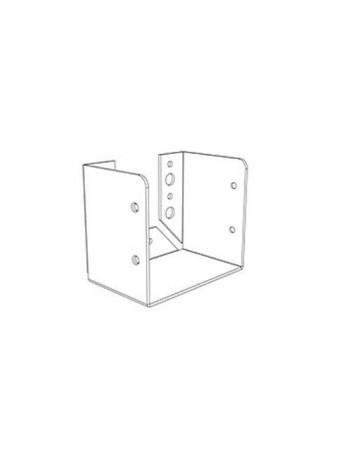 תושבת קיר 132/135 לבנה